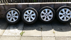 Set of 4 vauxhall 4 stud wheels and good tyres