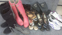 Girls size 4 and 5 shoes and boots