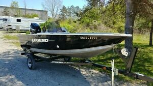 2011 Legend 15 Angler w/ 40hp Mercury EFI Four Stroke & Trailer