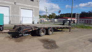 24ft 20,000lb Equipment Flat deck Trailer
