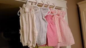 5 RALPH LAUREN Baby Girl Dresses & Sunsuit Rompers 6-12mts