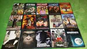 For sale, DVD movies one dollar each.