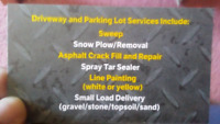 Need your driveway tared? *End of season discount*