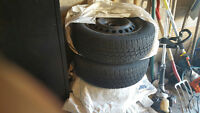 4 Hankook snow tires with rim for sale $190