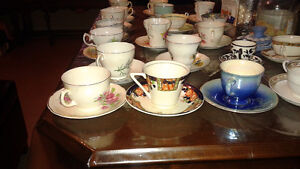 20 Fine China Tea Cups and Matching Saucers