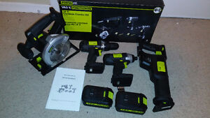 POWER IT! Drill+Impact Wrench+Circular Saw+Reciprocating Saw