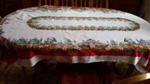 80 x 46 rectangle village stamped table cloth Regina Regina Area image 1