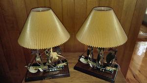 Lampes de table «Bâteau»