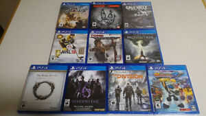 PS4 Games New or Mint Condition