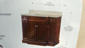 Vanity and matching Medicine cabinet for sale