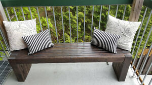Solid Pine Outdoor Bench
