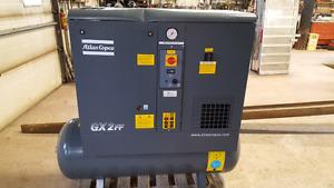 Atlas Copco screw air compressor with dryer