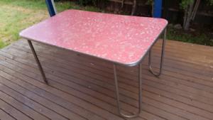 Retro red laminex dining table