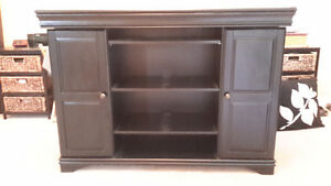 Redecorating - Black TV console with lots of storage