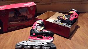 2 en 1 - patins à glace et rollerblades The Cars-Flash McQueen