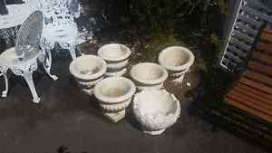 Cement flower pots ($20 each)