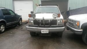 GMC dump truck with snow plow attachment for sale