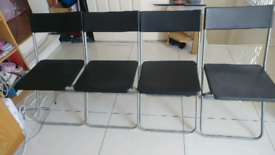 4 x black ikea chairs