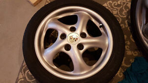 Porsche twist wheels with 5x100 adapters Kitchener / Waterloo Kitchener Area image 2