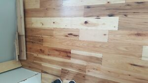 "5"" WIDE X 3/4"" THICK SOLID HICKORY HARDWOOD FLOORING"