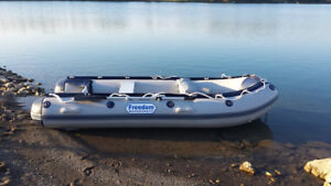 11 foot HEAVY DUTY INFLATABLE BOAT BY FREEDOM WATERCRAFT