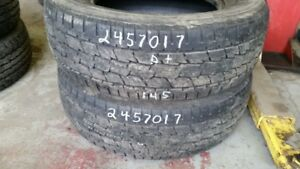 Pair of 2 General Grabber HTS 245/70R17 tires (55% tread life)