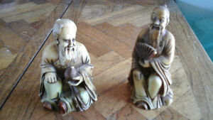 2 Vintage Lucky Gods of Early Japan