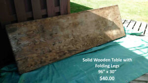 Solid Wooden Table For Sale