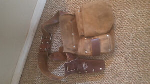 Men's leather tool belt