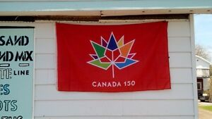 Red Canada 150 Flags