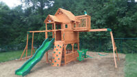 ebeniste assemble play set cedar summit et big backyard