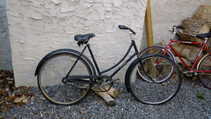 Antique 1950's Ladies Raleigh bicycle