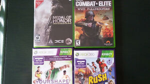 8 jeux de Xbox 360-Rush- Star wars- Combat Elite