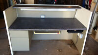 Large 2 Level Cash Counter with lighting.