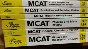 MCAT all new text books for sale, simulation tests included