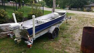 14ft Springbok Aluminum boat, 9.9hp Johnson Motor