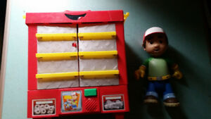 TALKING HANDY MANNY TOOL BENCH AND FIGURE
