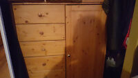 Pine Dresser - 4 shelves and drawers