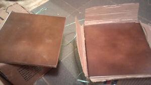"Brown 8""x8"" Ceramic Tiles"