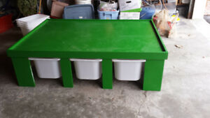 Green Build Table for Lego, Trains etc
