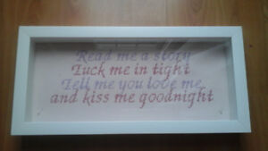 "CROSS STITCH -""READ ME A STORY"""