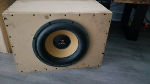 """Focal KX33 13"""" Subwoofer and 1000w amp"""