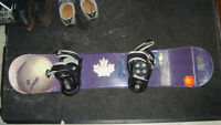 Sims Spinner 135 snowboard with Burton bindings