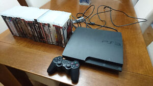 Playstation 3 160 gigs + 1 controller + 28 games + Instruments