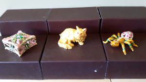 Flower box, Spider & Persian Cat Jewellery Boxes