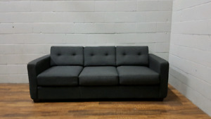 Free delivery: Modern Charcoal Gray Sofa
