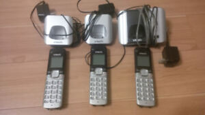 VTech Expandable Cordless Phone System with 3 Handsets
