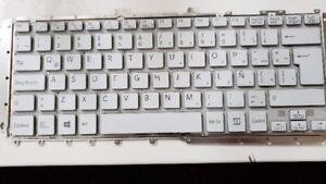 Sony SVF142 Keyboard Backlit White Latin Spanish
