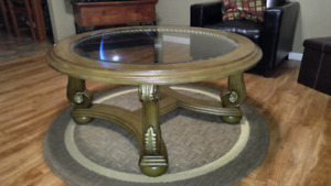High quality glass round coffee table, end table, and sofa table