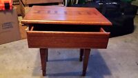 Small table, king size box spring